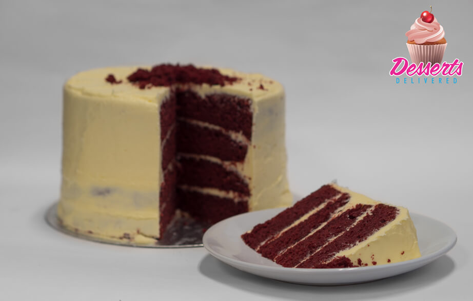 Red velvet sponge with vanilla icing
